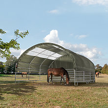 TOOLPORT Pasture tent 6x6m with skylights, PVC