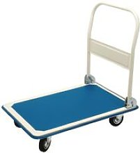 Tools Platform Trolley with Folding Handle Blue