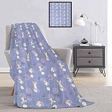Toopeek Anemone Flower Bed flannel blanket Festive
