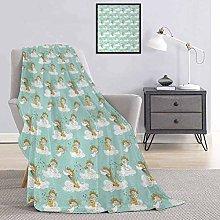 Toopeek Anemone Flower Comfortable large blanket