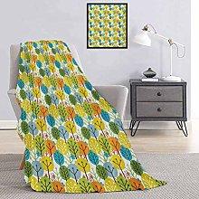 Toopeek Baby Bedding flannel blanket Cute Colorful