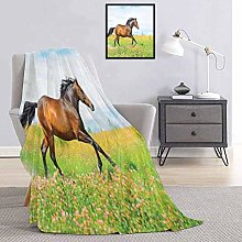 Toopeek Equestrian Bedding flannel blanket Horse