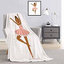 Toopeek Girls Bedding flannel blanket Ballerina