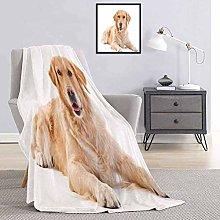 Toopeek Golden Retriever Bedding flannel blanket