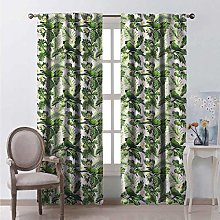 Toopeek Green Bedroom rod pocket blackout curtains
