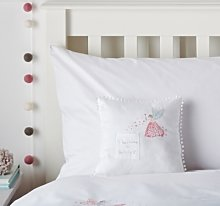 Tooth Fairy Cushion, White/Pink, One Size