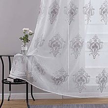 Top Finel Embroidered Voile Curtain Lace Panel