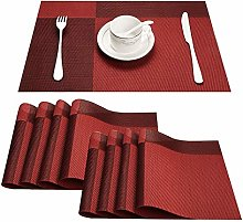 Top Finel Heat-Proof Placemats Set Contract Color