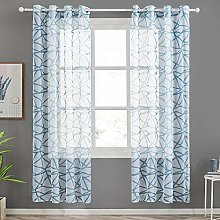 Top Finel Irregular Stripes Voile Net Sheer Window