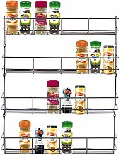 Top Home Solutions® Chrome Spice Herb Jar Rack