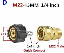 Top quality 2Pcs Pressure Washer Adapter Kit M22