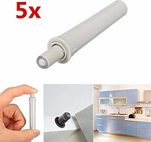 Top Quality 5PCS Gray Cabinet Catches White Damper