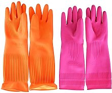 Top819 Trade Cleaning Gloves,Reusable Long Rubber