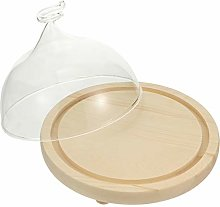 TOPBATHY 1 Set Glass Round Cake Dome Cover with