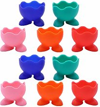 TOPBATHY 10pcs Silicone Egg Cup Holders Egg