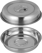 TOPBATHY 2pcs Cheese Melting Dome Stainless Steel