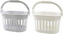 TOPBATHY 2pcs Plastic Organizing Storage Basket