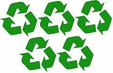 TOPBATHY 5 Pcs Recycle Stickers Trash Bin Labels
