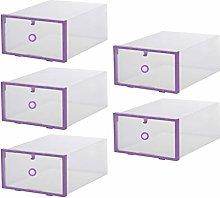 TOPBATHY 5 Pcs Shoes Box Stackable Shoes Storage