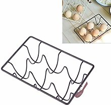 TOPBATHY 6 Compartment Wire Egg Holder Tray Egg