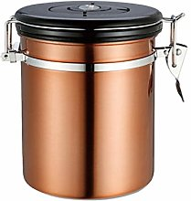 TOPBATHY Airtight Coffee Canister Stainless Steel