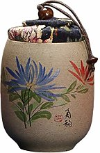 TOPBATHY Chinese Tea Canister Cookie Jar Kitchen