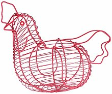 TOPBATHY Eggs Wire Storage Basket Chicken Shaped