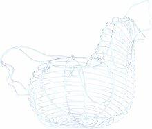 TOPBATHY Eggs Wire Storage Basket Chicken Shaped