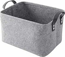 TOPBATHY Felt Storage Basket Portable Storage Bin