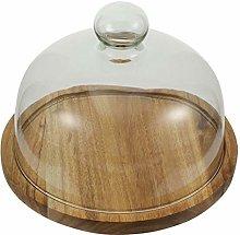 TOPBATHY Glass Cake Dome Glass Round Cake Cover