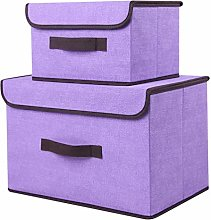 TOPBATHY Linen Storage Bin Stackable Foldable