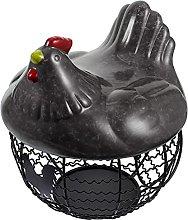 TOPBATHY Metal Wire Egg Basket Egg Holder