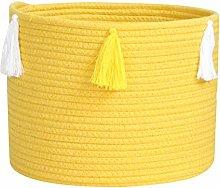 TOPBATHY Woven Storage Basket Cotton Rope