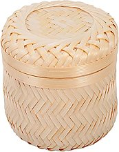 TOPBATHY Woven Storage Container with Lid Wicker