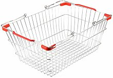 TOPBATHY Wrought Iron Shopping Basket Wire Market