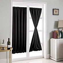 Topchances 2 Panels French Door Curtain, Pleat