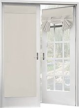 Topchances 2 Pieces French Door Curtain,Punch-Free