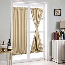 Topchances French Door Curtain, 1 Panel Pleat