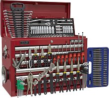 Topchest 10 Drawer - Red & 140pc Tool Kit - Sealey