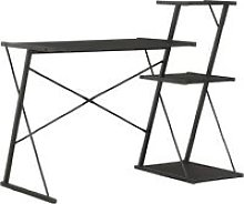 Topdeal Desk with Shelf Black 116x50x93 cm