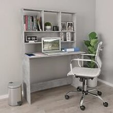 Topdeal Desk with Shelves Concrete Grey 110x45x157