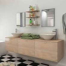 Topdeal Eight Piece Bathroom Furniture and Basin