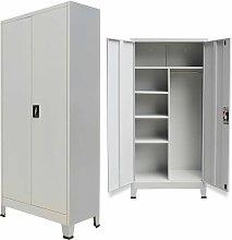 Topdeal Locker Cabinet with 2 Doors Steel
