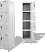 Topdeal Locker Cabinet with 4 Compartments