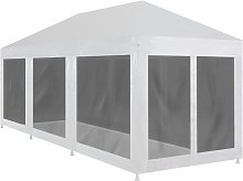 Topdeal Party Tent with 8 Mesh Sidewalls 9x3 m