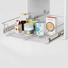 Topdeal Pull-Out Wire Baskets 2 pcs Silver 600 mm