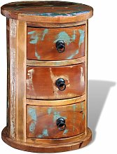 Topdeal Reclaimed Cabinet with 3 Drawers Solid