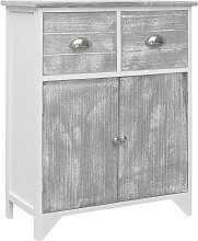 Topdeal Side Cabinet Grey and White 60x30x75 cm