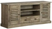 Topdeal TV Cabinet Solid Mindi Wood 145x35x60 cm