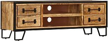 Topdeal TV Cabinet with Drawers 120x30x40 cm Solid